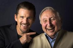 """Director Ethan Hawke (L) and pianist Seymour Bernstein pose while promoting their film """"Seymour: An Introduction"""" during the Toronto International Film Festival (TIFF) in Toronto, September 10, 2014.    REUTERS/Mark Blinch"""