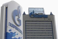 Vista general de las oficinas de Gazprom en Moscú. Imagen de archivo, 27 junio, 2014.  El exportador ruso de gas natural Gazprom dijo el martes que está cubriendo por completo la demanda del combustible de sus clientes europeos en medio de reclamos de que la compañía ha reducido los flujos a Europa. REUTERS/Sergei Karpukhin