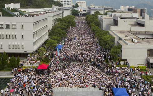 Hong Kong students demand democracy