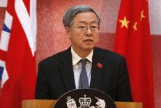 People's Bank of China Governor Zhou Xiaochuan addresses delegates at the UK-China Financial Forum at Lancaster House, in London June 18, 2014. REUTERS/Sang Tan/Pool