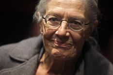 """Actress Vanessa Redgrave arrives for the world premiere of the documentary """"Bosnia Rising"""" in Sarajevo October 3, 2014.   REUTERS/Dado Ruvic"""