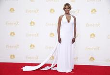 """Laverne Cox from Netflix """"Orange is the New Black"""" arrives at the 66th Primetime Emmy Awards in Los Angeles, California August 25, 2014.  REUTERS/Lucy Nicholson/Files"""