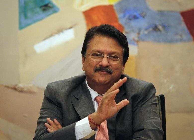 Chairman of Piramal Enterprises Ltd. Ajay Piramal gestures as he speaks during a news conference in Mumbai February 6, 2012. REUTERS/Danish Siddiqui/Files