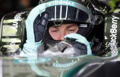 Piloto da Mercedes Nico Rosberg, da Alemanha, no primeiro treino livre para o GP Brasil de F1. 07/11/2014 REUTERS/Paulo Whitaker
