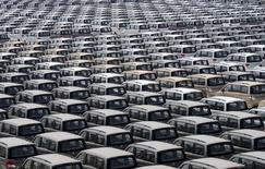 Chinese Changan cars are parked inside a factory in Chongqing May 21, 2013. Picture taken May 21, 2013. REUTERS/Stringer