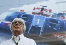 Formula One commercial supremo Bernie Ecclestone arrives for the drivers' parade before the first Russian Grand Prix in Sochi October 12, 2014.     REUTERS/Maxim Shemetov