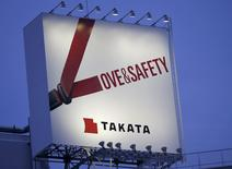 A billboard advertisement of Takata Corp is pictured in Tokyo September 17, 2014. REUTERS/Toru Hanai