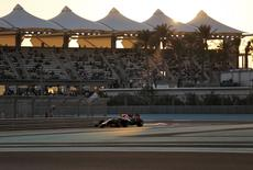Sebastian Vettel of Germany drives during the qualifying session of the Abu Dhabi F1 Grand Prix at the Yas Marina circuit in Abu Dhabi November 22, 2014.  REUTERS/Ahmed Jadallah