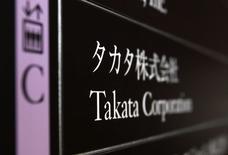 Trois constructeurs automobiles japonais ont annoncé le rappel d'un total de plus d'un demi-million de véhicules afin de remplacer les actionneurs d'airbags fabriqués par Takata, ce qui porte à 20 millions le nombre de rappels liés à l'équipementier depuis 2008. /Photo prise le 9 décembre 2014/REUTERS/Yuya Shino
