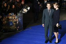 "Actor Ben Stiller and wife Christine Taylor arrive for the European premiere of ""Night at the Museum: Secret of the Tomb"" at Leicester Square in London in this file photo taken December 15, 2014.  REUTERS/Luke MacGregor/Files"