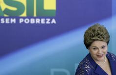 Presidente Dilma Rousseff durante café da manhã com jornalistas no Palácio do Planalto. 22/12/2014. REUTERS/Joedson Alves
