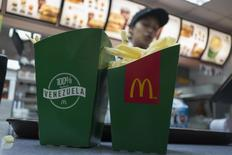 Deep-fried yucas are served at a McDonald's restaurant in Caracas January 6, 2015.