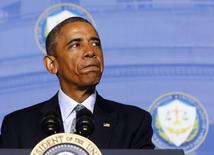 O presidente dos Estados Unidos, Barack Obama, participa de um evento em Washington nesta segunda-feira. 12/01/2015 REUTERS/Larry Downing