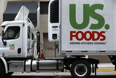 A US. Foods truck is shown on  delivery in San Diego, California October 23, 2013. REUTERS/Mike Blake