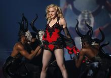 "Madonna performs ""Living for Love"" at the 57th annual Grammy Awards in Los Angeles, California February 8, 2015.   REUTERS/Lucy Nicholson"