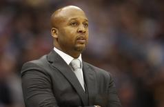 Denver Nuggets head coach Brian Shaw during the second half against the San Antonio Spurs at Pepsi Center. Jan 20, 2015; Denver, CO, USA;  Chris Humphreys-USA TODAY Sports