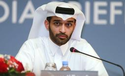 Secretary General of the Qatar 2022 Supreme Committee Hassan Abdulla Al Thawadi speaks during a news conference in Doha February 25, 2015.  REUTERS/Mohammed Dabbous