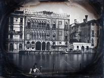 The Grand Canal and the Casa d'Oro under restoration in Venice are seen in this handout photograph of a daguerreotype circa 1845, released in London March 18, 2015. REUTERS/K.& K. J. Jacobson/Handout via Reuters