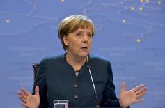 Chanceler alemã, Angela Merkel, durante encontro em Bruxelas.  20/03/2015  REUTERS/Eric Vidal