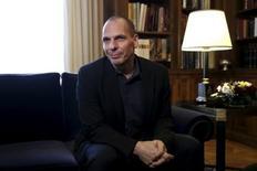 Ministro grego das Finanças, Yanis Varoufakis, durante encontro em Atenas.  24/03/2015  REUTERS/Alkis Konstantinidis