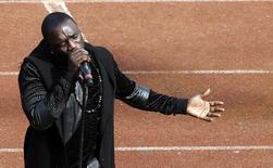 Cantor de hip hop e R&B Akon na cerimônia de abertura da Copa Africana de Nações, em Bata. 17/01/2015 REUTERS/Amr Abdallah Dalsh