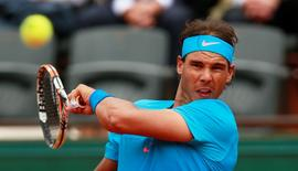 Tennis - French Open - Roland Garros, Paris, France - 26/5/15 Men's Singles - Spain's Rafael Nadal in action during the first round Action Images via Reuters / Jason Cairnduff Livepic