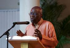 Former FIFA Vice President Jack Warner addresses the audience during a ceremony in celebration of Indian Arrival Day organized by his political Independent Liberal Party in Chaguanas, Trinidad and Tobago, May 29, 2015. REUTERS/Andrea De Silva