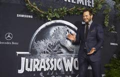 """Ator Chris Pratt durante estreia mundial do filme """"Jurassic World"""" em Hollywood. 09/06/2015 REUTERS/Mario Anzuoni"""