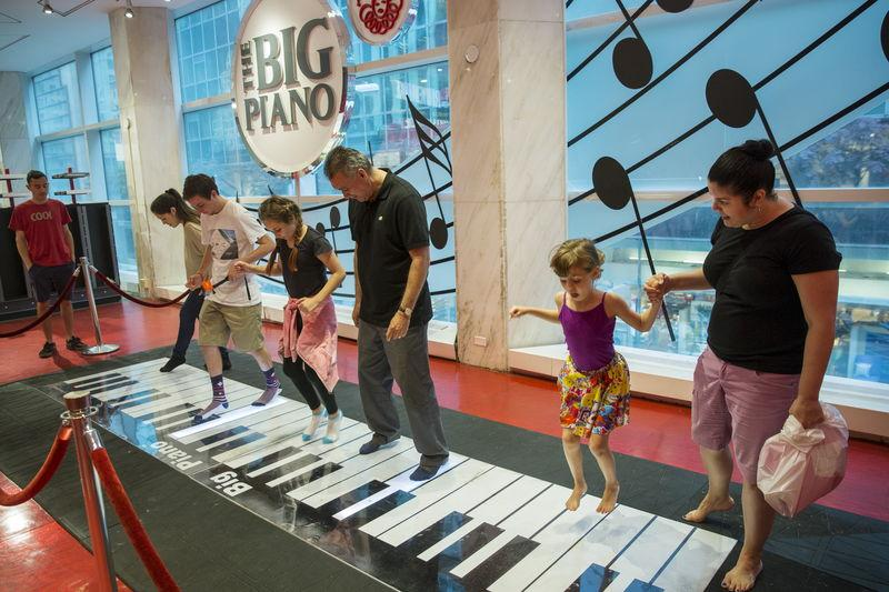 Flagship fao schwarz toy store in new york closes plans to relocate tourists play on the big piano inside of the toy store fao schwarz on the last day that the store will be open in new york july 15 2015 sciox Image collections