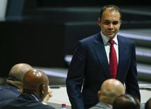 Prince Ali bin Al Hussein of Jordan, FIFA presidential candidate, returns to his seat after a speech at the 65th FIFA Congress in Zurich, Switzerland, May 29, 2015.          REUTERS/Ruben Sprich