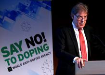 David Howman, Director General of the World Anti-Doping Agency (WADA), addresses the participants of the 11th Symposium for Anti-Doping Organizations in Lausanne March 24, 2015. REUTERS/Denis Balibouse  - RTR4ULJX