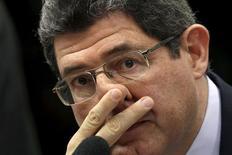 Ministro da Fazenda, Joaquim Levy, durante sessão de comissão na Câmara dos Deputados, em Brasília, em julho. 15/07/2015 REUTERS/Ueslei Marcelino
