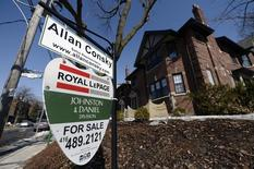 A home for sale is seen in Toronto, in this March 11, 2014 file photo. REUTERS/Aaron Harris