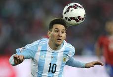 Lionel Messi, da Argentina, durante jogo da final da Copa América contra o Chile, em Santiago, em julho. 04/07/2015 REUTERS/Jorge Adorno