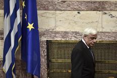 Presidente da Grécia, Prokopis Pavlopoulos, durante cerimônia em Atenas.   13/03/2015    REUTERS/Aris Messinis/Pool