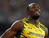 Usain Bolt após vitória no campeonato mundial, em Pequim.  27/08/2015   REUTERS/David Gray