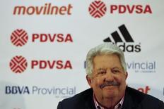 Ex-presidente da Federação de Futebol da Venezuela Rafael Esquivel durante evento em Caracas.  10/05/2012   REUTERS/Jorge Silva