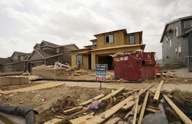 A house under construction has a sold sign out front in the Candelas development in the northwest Denver suburb of Arvada, Colorado August 18, 2015. REUTERS/Rick Wilking
