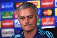 Técnico do Chelsea, José Mourinho, durante entrevista coletiva no centro de treinamento do clube. 03/11/2015 REUTERS/Action Images/Tony O'Brien