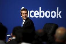 Presidente do Facebook, Mark Zuckerberg, na sede da empresa em Menlo Park, Califórnia. 27/9/2015 REUTERS/Stephen Lam