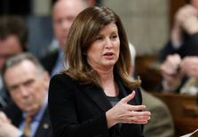 Canada's Health Minister Rona Ambrose speaks during Question Period in the House of Commons on Parliament Hill in Ottawa November 27, 2014. REUTERS/Chris Wattie