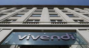 Logo da Vivendi visto em prédio da companhia em Paris.  08/04/2015      REUTERS/Gonzalo Fuentes