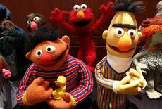 Puppets Ernie (L) and Bert from Sesame Street are seen after they were donated September 24, 2013.  REUTERS/Larry Downing