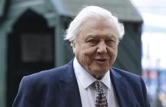 Naturalist David Attenborough arrives for a memorial service for his brother Richard Attenborough at Westminster Abbey in London March 17, 2015. REUTERS/Suzanne Plunkett/Files