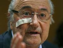 Líder afastado da Fifa, Joseph Blatter.    21/12/2015   REUTERS/Arnd Wiegmann