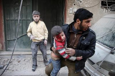 Shelling in Damascus