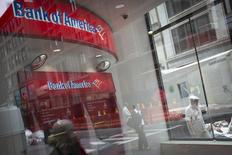 A Bank Of America ATM is pictured in the Manhattan borough of New York in this August 21, 2014, file photo.  REUTERS/Carlo Allegri/Files