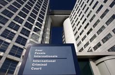 Вход в здание Международного уголовного суда в Гааге. 3 марта 2011 года. Судьи Международного уголовного суда уполномочили прокурора МУС расследовать военные преступления, которые, как предполагает суд, были совершены в ходе российско-грузинского конфликта 2008 года. REUTERS/Jerry Lampen