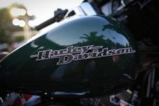 Мотоцикл Harley-Davidson в Мумбаи. 30 октября 2014 года. Квартальная прибыль легендарного производителя мотоциклов Harley-Davidson Inc превзошла прогнозы благодаря стабилизации доли рынка в США, сообщила компания в четверг. REUTERS/Danish Siddiqui