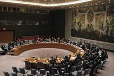 Заседание Совбеза ООН в штаб-квартире организации в Нью-Йорке. 25 января 2016 года. Россия намерена в пятницу созвать заседание Совета безопасности ООН в связи с обострением ситуации на сирийско-турецкой границе и объявленными планами Турции по введению своих войск на север Сирии, сообщил МИД РФ. REUTERS/Mike Segar